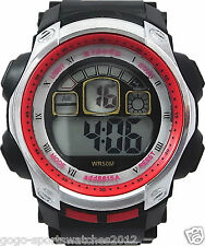 Men Boys Digital Sports Watches WR 30M Alarm Date Day Watchlight Timer Stopwatch