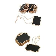 22x Mini Blackboard Tags Rectangle Jute String Chalkboard Wedding Christmas
