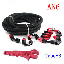 AN6 Braided Gas/Fuel/Oil Line Hose with Hose End Fitting Adjustable Wrench Kit