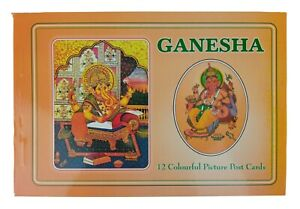 Hindu God Lord Ganesh Picture Postcard Booklet Containing 10 Postcards