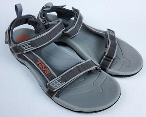 Teva Mens 4141 Tanza Comfort Adjustable Strap Gray Orange Sports Sandals Size 13