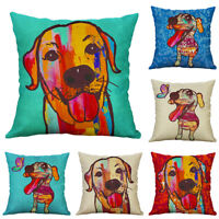 Home Decor For Cartoon Cotton linenn Cute Dog Pillow Case Sofa Car cushion cover