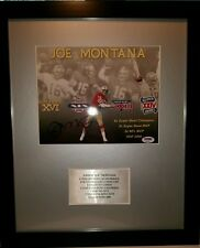 Joe Montana 49ers 16x19 Custom Framed Photo Display PSA/DNA COA