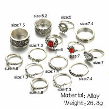 Knuckle Band Midi Rings Set Gifts 14Pcs Fashion Jewelry Punk Silver Stack Above