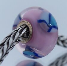 Authentic Trollbeads Retired Pink Bead 61197 New Glass Charm Bead