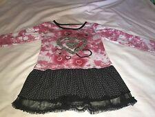 SWAK - Pink Tie Dye Dress with Polka Dots  Size 10/12
