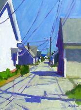 Shadows On A Provincetown Street Oil On Canvas Board 9x12 Orig. Plein Air