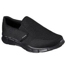 Skechers Equalizer Mens Black Blue Grey Slip On Memory Foam Trainers Size 7-13
