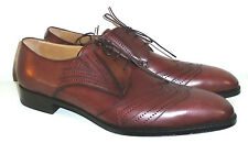 SERGIO ROSSI  MENS BROWN  LEATHER WINGTIP  OXFORD  SHOES 12 NEW