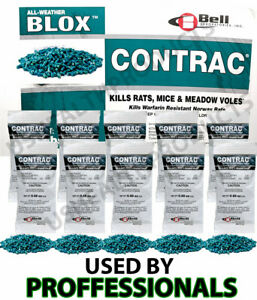 Just One Bite Poison 10 pack Contrac Mice Rat Mouse Rodent Professional 250 Gram