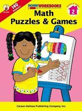Math Puzzles & Games, Grade 2 (Home Workbooks)
