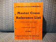 1985-1991 Ford Lincoln Mercury Truck Master Cross Reference List Manual Volume 7