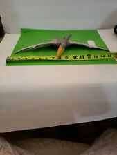 16 inch wing span . Hard Plastic Pterodactyl Dinosaur Toy Figure. Unmarked .