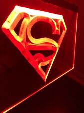 NEW Superman Signal Superhero LED Sign for Game Room,Office,Bar,Man Cave RED