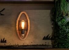 Vintage Industrial Loft Hemp Rope Pipe Wall Sconce E27 Wand Licht Lampe 26*40cm