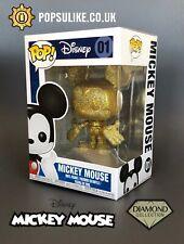 Disney Gold Glitter Mickey Mouse Funko Pop Vinyl 01 Exclusive Diamond Collection