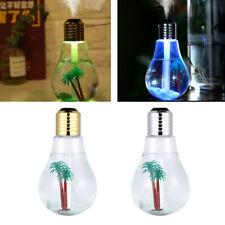 LED Lamp Bulb Ultrasonic Humidifier Mist Aroma Essential Oil Diffuser Car