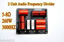 1pcs 2 Way Crossover Filter 2 Unit HIFI Frequency Divider 5-8Ω 260W 3000HZ