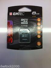 Carte mémoire Emtec Micro SD HC SDHC 150X 8go 8gb 8 go gb Class 4 + Adaptateur