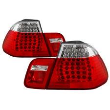 BMW 02-05 E46 4dr Red Clear LED Rear Tail Brake Lights Set 4 Door 325i 330i 320i