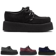 Womens Undergournd Wulfrun Original Double Sole Punk Suede Creepers Shoes UK 3-8