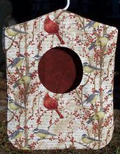 Clothes Pin Bag Holder Birds Cardinals Hole Animals Handmade Laundry