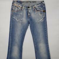 G-Star Core Custom WMN 5786 W29 L32 blau Damen Designer Denim Jeans Hose Vintage