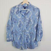 [ GANT ] Womens Paisley Printed Shirt Top     Size AU 14 / UK 16 or US 12