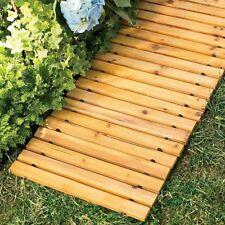 Roll Out Wooden Pathway Straight Bridge Slat Outdoor Garden Home Decor 8 Feet