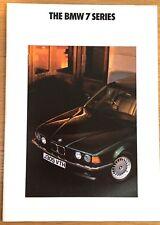 BMW 7-series E32 brochure 1992 - 730i, 735i, 735iL