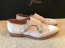 ALFRED SARGENT FOR JCREW DOUBLE MONK STRAP SHOES IN SUEDE SIZE 11,5M GREY A1378