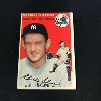 1954 Topps #96 CHARLIE SILVERA New York Yankees VG ~FB05