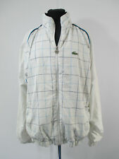 Vintage Lacoste Sport White and Blue Check Bomber Jacket