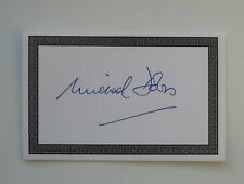 More details for michael dobbs hand signed book plate autograph