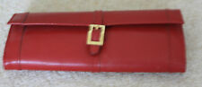 Red Jewellry Case presstud fastener useful size ideal for holidays 8in x 3.5in