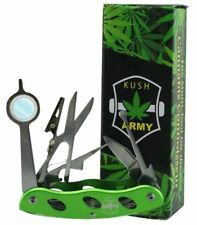 Kush Army Knife for the Cannabis Connoisseur • Magnifier  • Roach Clip • Scissor