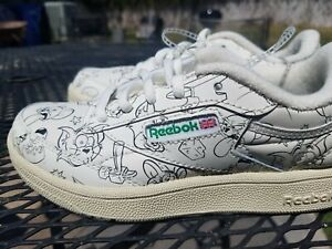 Rare New DS Reebok Club C 85 Tom and Jerry  Youth Shoes Sz 1 Movie Boys GS Kids