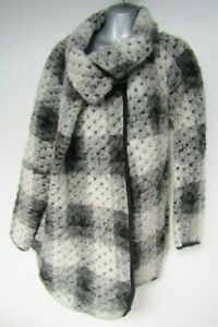 Made in ITALY One Size Wool Blend Jacket Coat Lagenlook Coatigan Chunky Knit