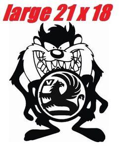 """LARGE 21"""" taz vauxhall corsa astra vinyl van car bonnet sticker side decal rally"""