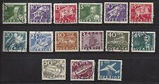 Sweden - # 248 - 262 - Used - 1936 - 300Th Ann Of Swedish Postal Service