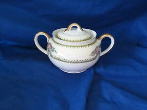Noritake Nirvana SUGAR BOWL w/LID have more items to this set AS IS