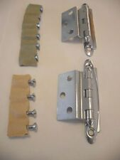 Vintage 1950's NOS Polished Chrome Steel Flush Cabinet Door Hinges Amerock E7645