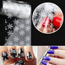 Ongle Autocollant Transfer Stickers Flocons Neige Noël 3D Nail Art Décor Tips