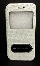 White Flip Leather View Window Case Cover for Apple iPhone 6 USA SELLER!