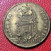 #4182 - RARE - Jeton Louis XVI Optimo Principi TTB - FACTURE