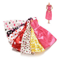 7X Gorgeous Handmade Dress for s Kids Doll Clothes Accessories Mix Color: