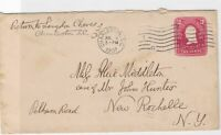 charleston united states 1907 stamps cover ref 13163