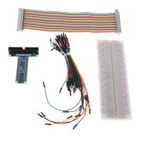 For Raspberry Pi GPIO Extension Expansion Board + Breadboard +Cable T-type Board