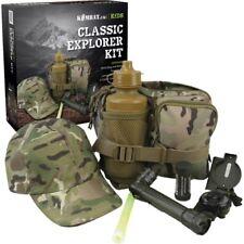GIFT BOXED BOYS ARMY EXPLORER KIT CAP TORCH BAG WATERBOTTLE CREAM KIDS BTP CAMO