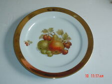 Vintage German Bavaria Large Gold Edged Collectors Plate Pears And Gooseberries